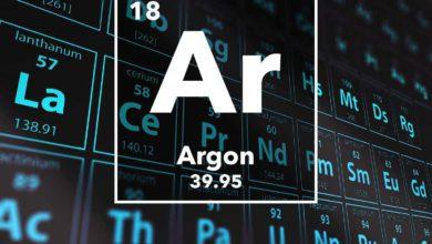 تصویر از گاز آرگون