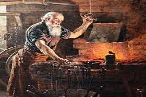 تصویر از آهنگری در گذشته